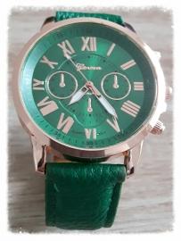 Horloge - Geneva chic groen