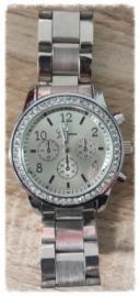 Horloge - zilver bling