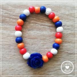 Koningsdag - Rood-Wit-Blauw bloem