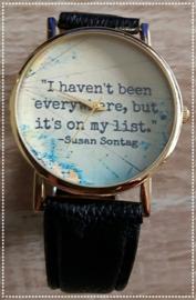 Horloge - i haven't been everywhere, but it's on my list zwart