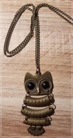 Ketting - uil brons