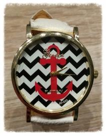 Horloge - Anker wit