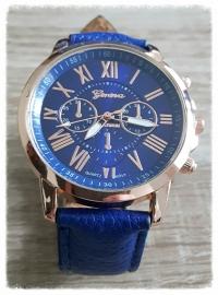 Horloge - Geneva chic blauw