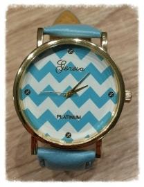 Horloge - Golven blauw