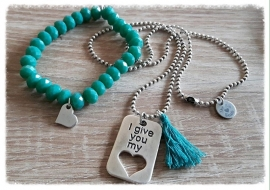I give you my heart - turquoise