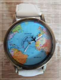 Horloge - Wereld wit