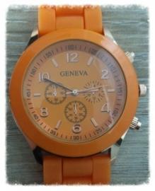 Horloge - Geneva oranje