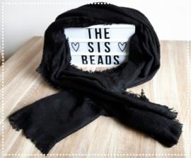 Sjaal zacht - Zwart