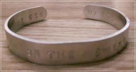 Armband bangle - eigen tekst
