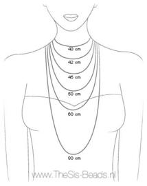 Ketting - Boeddha en cristal DQ