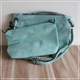Tas bag in bag - Licht turquoise