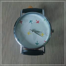 Horloge - Reizen zwart