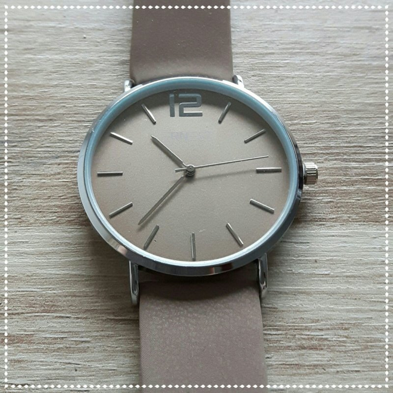 Horloge - Ernest bruin zilver