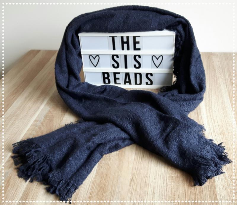 Sjaal zacht - Blauw