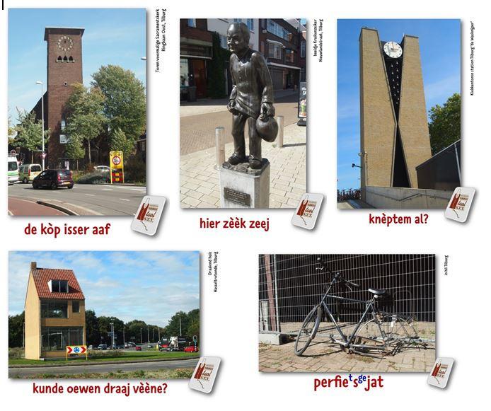 """Set van 5 """"typisch Tilburgse"""" ansichtkaarten"""