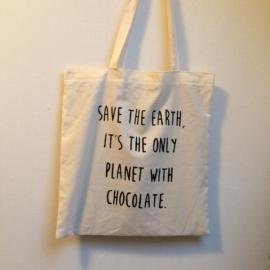 Katoenen tas met quote naar keuze