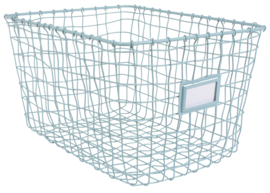 Wire basket blue
