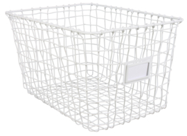 Wire basket white