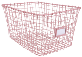 Wire basket pink