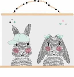 Poster mr. en mrs. rabbit