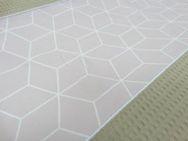 Aankleedkussenhoes pastelroze/taupe