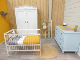 Babykamer - Lichtblauw   Mistgrijs