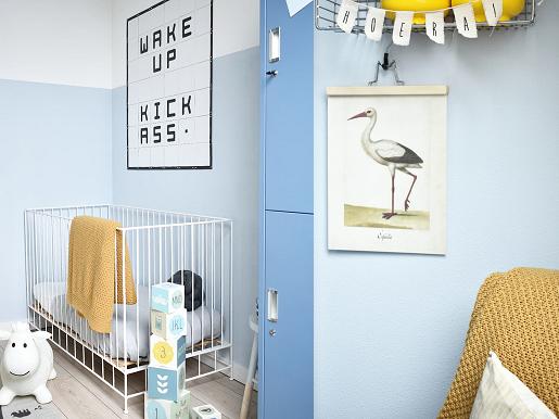 Babykamer licht en stoer