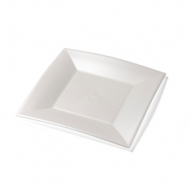Depa Bord, vierkant, PP, 290x290mm. wit. 12 st.