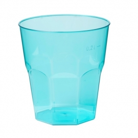 Glas, brasserieglas, PS, summertime, 220ml, turquoise. 25 st.