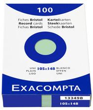 EXACOMPTA-indexkaarten A6, (B) 105 x (H) 148 mm, 205 g, gelinieerd,
