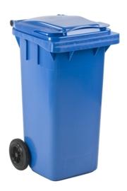 Mini-container 120 ltr blauw