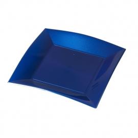 Depa Bord, vierkant, PP, 230x230mm. blauw. 25 st.