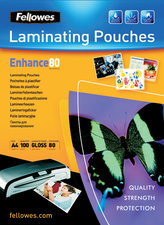 Lamineerhoezen Fellowes A4 Enhance 80 micron 100 st.
