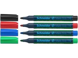 Whiteboardmarker Schneider Maxx Eco 110 assorti etui a 4st.