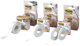 Post-it-correctie en maskeringstape, 4 mm x 17,7 m