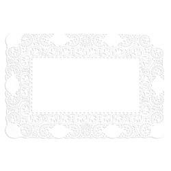 Taartrand papier rechthoekig  26 X 34 cm wit. pak 250 stuks