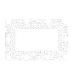 Taartrand papier rechthoekig  18 X 30cm wit. pak 250 stuks