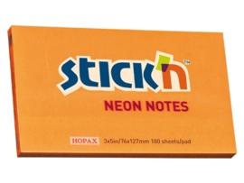 Memoblok Stick'n 76x127mm neon oranje