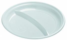 Bord PS 2 vaks 22 cm 100 stuks wit 13 gr.