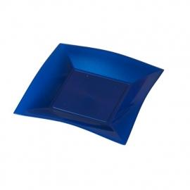 Depa Bord, vierkant, dessertbord, PP, 180x180mm. blauw. 25 st.