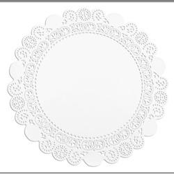 Taartrand papier rond 9 cm wit. pak 250 stuks