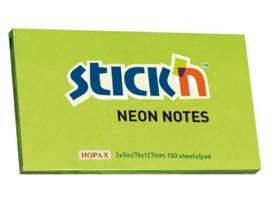 Memoblok Stick'n 76x127mm neon groen