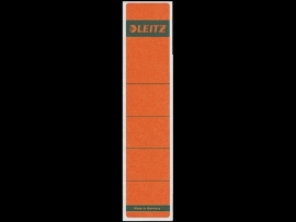 Rugetiket Leitz zelfklevend 1643 38X190MM 10 stuks rood