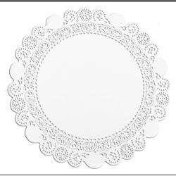 Taartrand papier rond 17 cm wit. pak 250 stuks