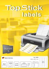 TOPSTICK  verzendlabel 210 x 297 mm 1 etiketten per vel