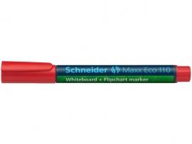 Whiteboardmarker Schneider Maxx Eco 110 navulbaar ronde punt 1-3 mm rood