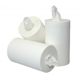 Poetsrol mini 1 laags Cellulose 120 mtr 12 rol zonder koker