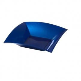 Depa Bord, vierkant, diepbord, PP, 180x180mm. blauw. 25 st.