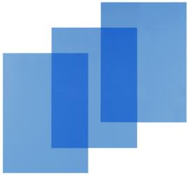 Pavo Blauw Transparante PVC omslag A4 200 micron 100 stuks