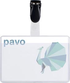 Pavo badges met clip 54 x 90 mm 50 st.